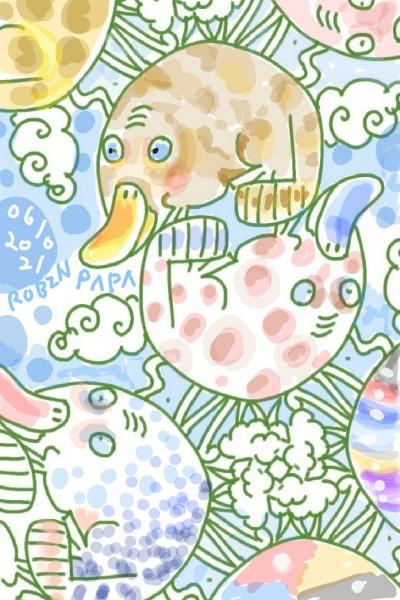 Platypus : Colorful Life    RobinPAPA   Digital Drawing   PENUP
