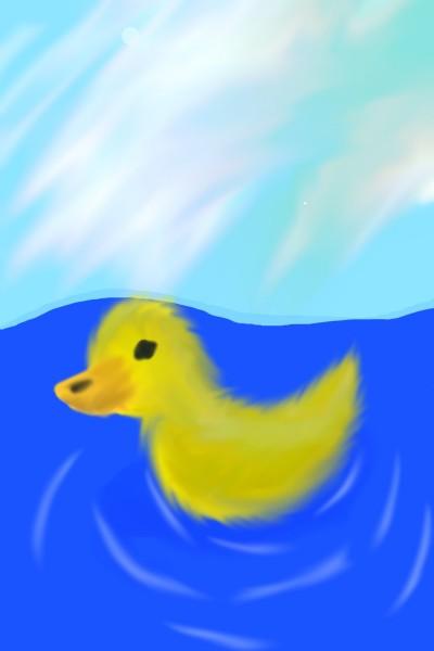 Duckling In Water   BloogaWorks   Digital Drawing   PENUP