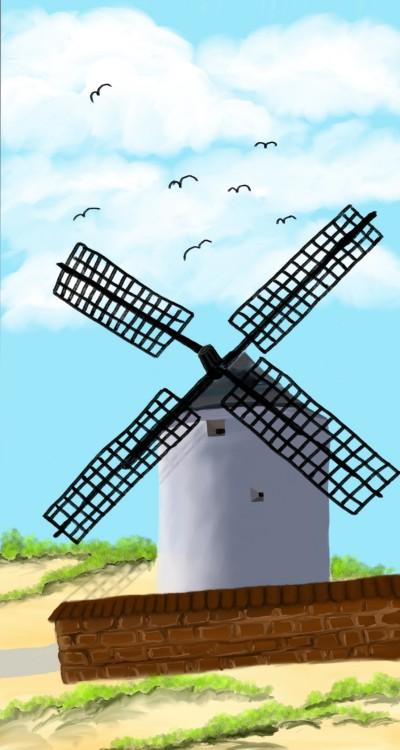 Spanish Windmill   sherlock   Digital Drawing   PENUP