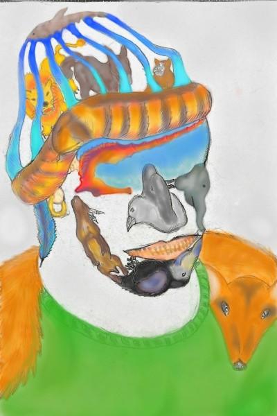 animals living in man    shigal   Digital Drawing   PENUP
