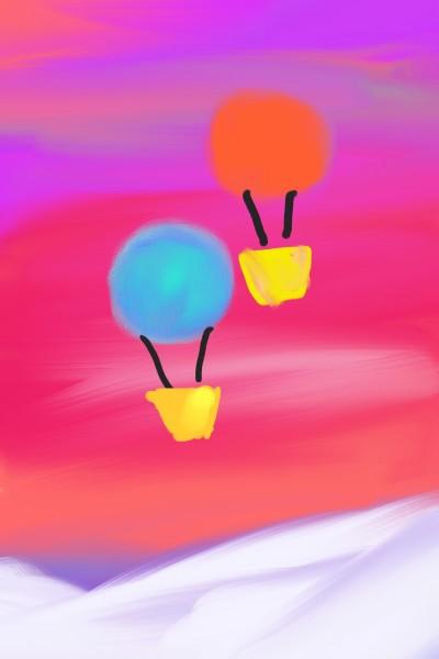 Two Baloons | Korral_Flex | Digital Drawing | PENUP