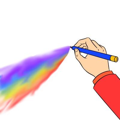 Rainbow magic pen | A.K.G_INDIA | Digital Drawing | PENUP