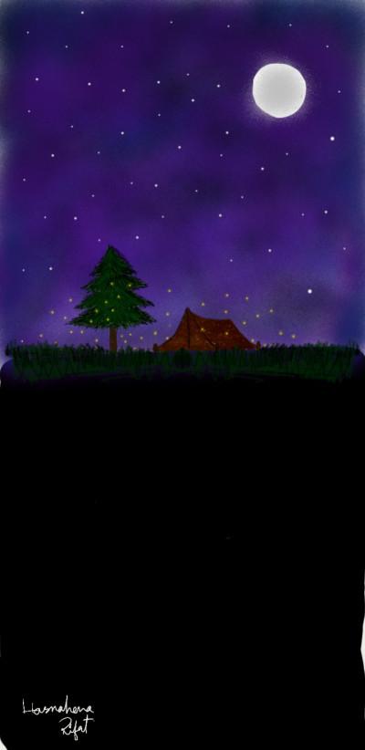 Fireflies   hasnahenarifat   Digital Drawing   PENUP