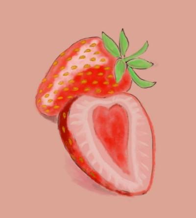 Watercolor Strawberry | sherlock | Digital Drawing | PENUP