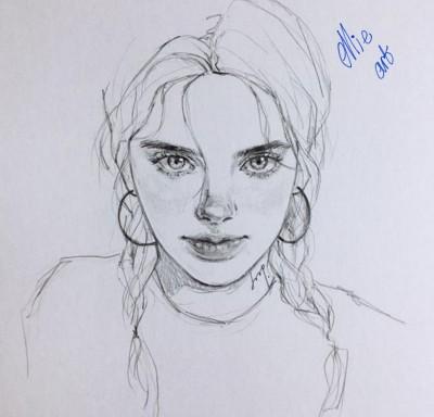 Portrait Digital Drawing   Ellishart   PENUP