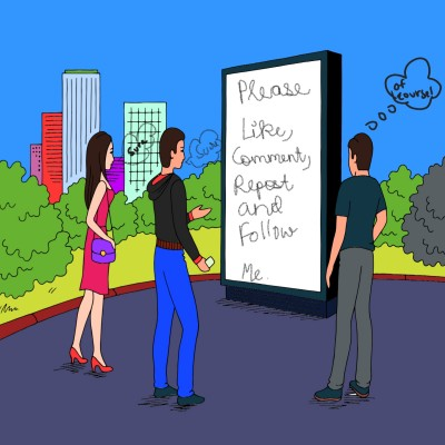 Reading the board | A.KGandhi_INDIA | Digital Drawing | PENUP