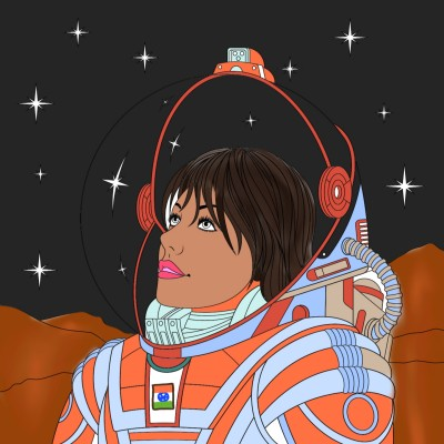 Astronaut on Mars | A.K.G_INDIA | Digital Drawing | PENUP