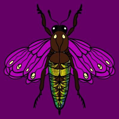 altın sırtlı arı | Ebru | Digital Drawing | PENUP