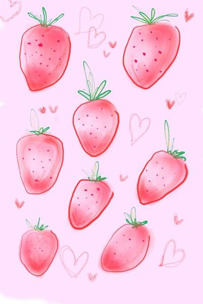 strawberry  | Jiazi | Digital Drawing | PENUP