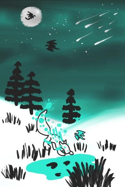 snow fox | wolfQueen | Digital Drawing | PENUP