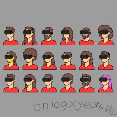 VR체험중인 사람들(feat.onlog)   yeon6332   Digital Drawing   PENUP