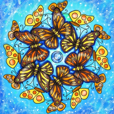 Butterfly party  | Sylvia | Digital Drawing | PENUP