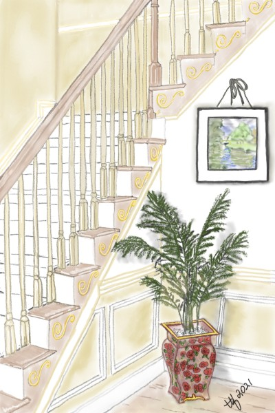 Pretty Lily Stairs | TeeTee | Digital Drawing | PENUP