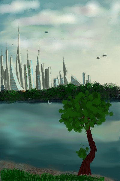future citys of 2060  | space_artist55 | Digital Drawing | PENUP