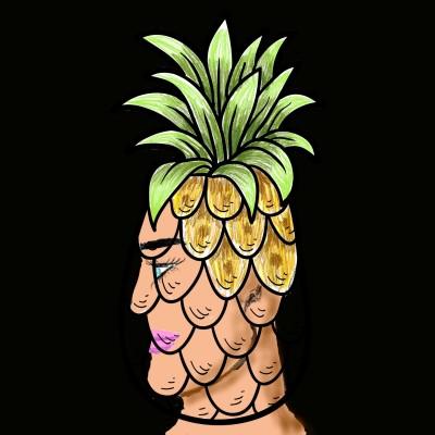 pinapple haircut  | J-O-C | Digital Drawing | PENUP