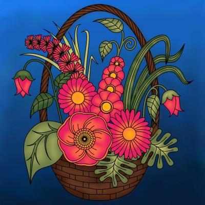 Flower basket   tashapreisner   Digital Drawing   PENUP