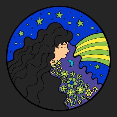 Luna azul  | santiagojhg | Digital Drawing | PENUP