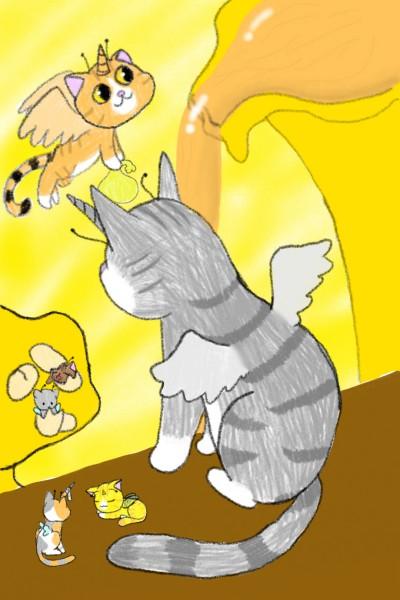 최고는 아니지만 완성했따!!제목: 허니허니 고양이 왕국   cutyanimalser   Digital Drawing   PENUP