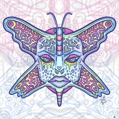 Butterfly face by nikolass  | nikolass83 | Digital Drawing | PENUP