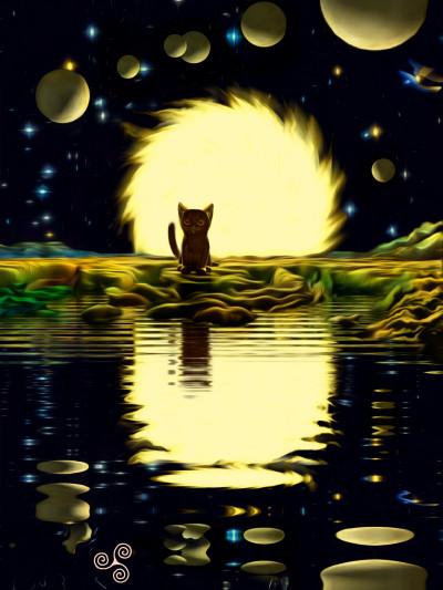Кошка-рыболов (лат.Prionailurus viverrinus) | Denis | Digital Drawing | PENUP