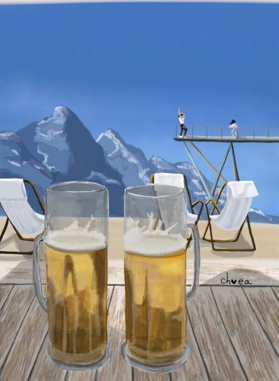 Beer in First   ch0ea   Digital Drawing   PENUP