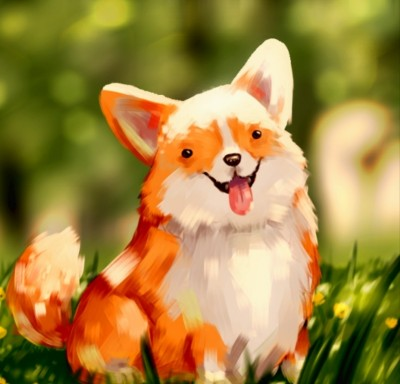 Corgi | Cat_who_draws | Digital Drawing | PENUP