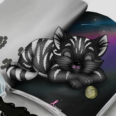 CAT ON THE BOOK | ramdan1111 | Digital Drawing | PENUP