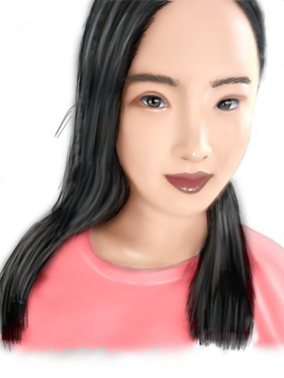 Smudge digital portrait for Oroll   opit   Digital Drawing   PENUP
