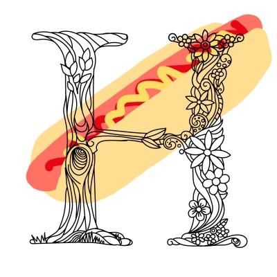 FYI H is for hotdog  | YasmineSCParr | Digital Drawing | PENUP