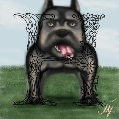 cute dog ♡ :)) | mjalkan | Digital Drawing | PENUP