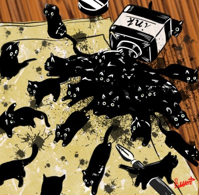 Black Cats | Reema21 | Digital Drawing | PENUP