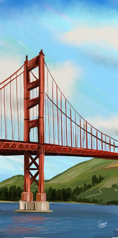 golden gate bridge | shahir | Digital Drawing | PENUP