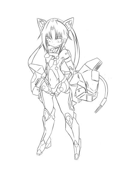 frame arms girl cat ears | Sweety | Digital Drawing | PENUP
