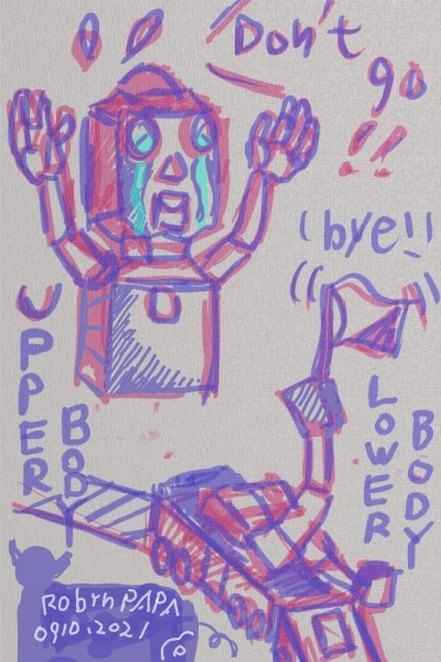 Parting train : goodbye body(AI robot) | RobinPAPA | Digital Drawing | PENUP
