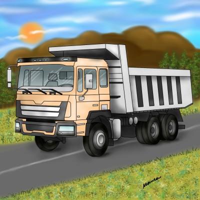 Truck | Monica.Baumann | Digital Drawing | PENUP