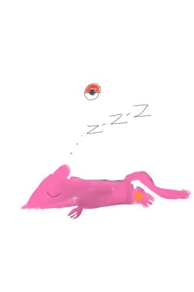 자는 뮤 | kim98 | Digital Drawing | PENUP