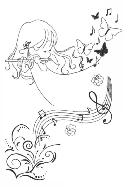 Playing The Flute  | MissyJ | Digital Drawing | PENUP