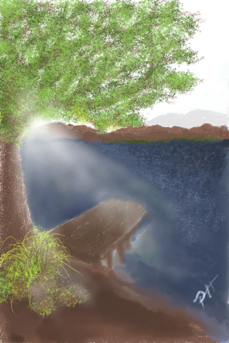 Rays over the Lake | PhillipHanson | Digital Drawing | PENUP
