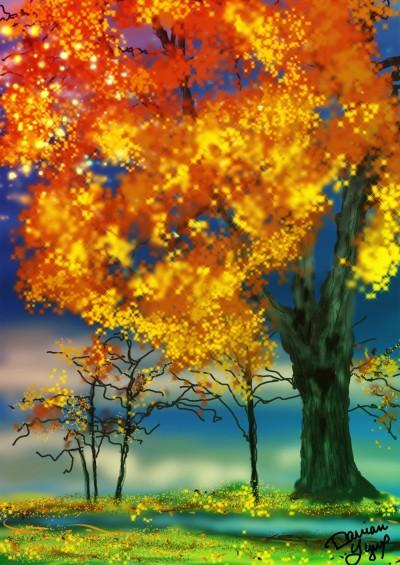 Fall Trees | missdarrian | Digital Drawing | PENUP