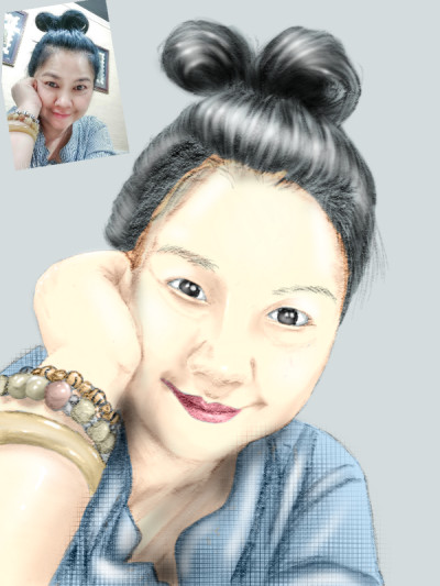 portrait drawing for Sakomi | opit | Digital Drawing | PENUP