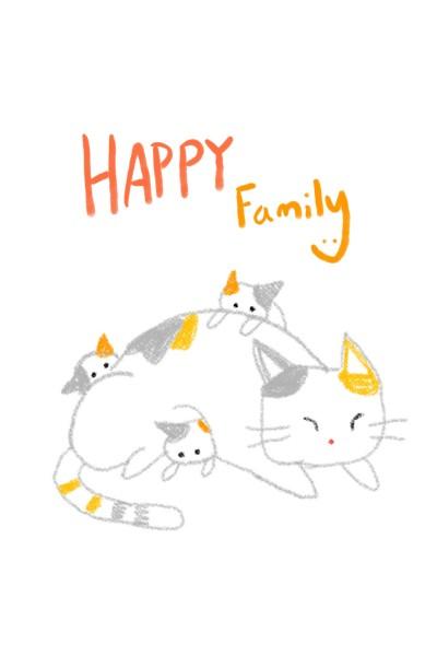 happy family | Jiyun | Digital Drawing | PENUP