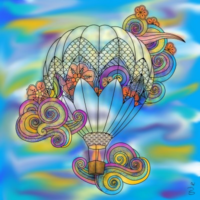 Hot airballoon ☆ | Danilyn95 | Digital Drawing | PENUP