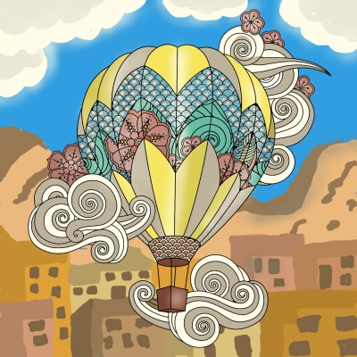 Postcard from #cappadocia #turkey  | Sylvia | Digital Drawing | PENUP