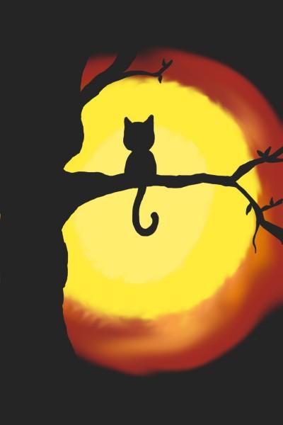 Cat In Tree   MissyJ   Digital Drawing   PENUP