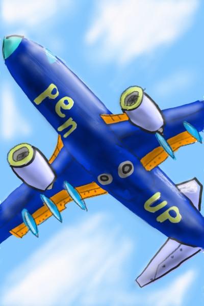 airplane  | Amirflash | Digital Drawing | PENUP