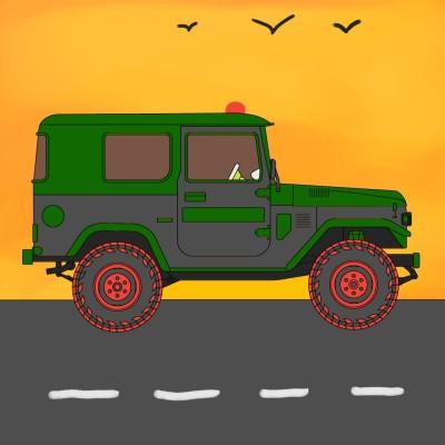 THE CAR AND IRANIAN | ali5771 | Digital Drawing | PENUP