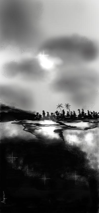 Cloudy evening | arpu | Digital Drawing | PENUP