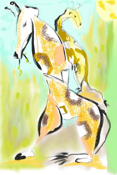 hungry giraffes #giraffes | maggi | Digital Drawing | PENUP