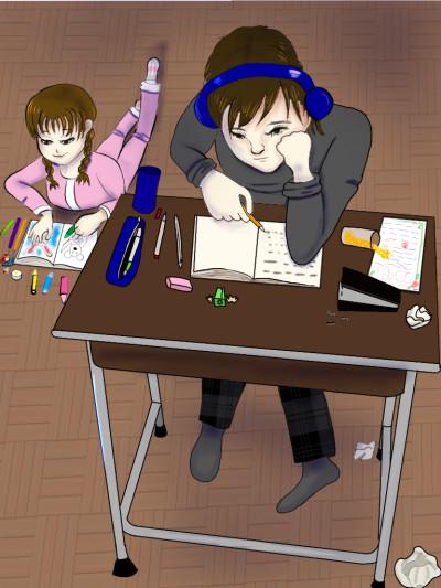 siblings stationary  | Haneen | Digital Drawing | PENUP