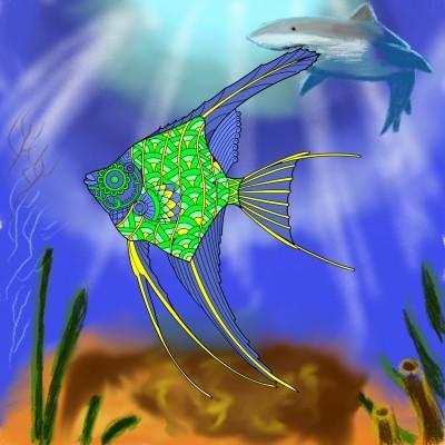 under water | J-O-C | Digital Drawing | PENUP